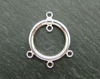 Sterling Silver 4 Loop Round Chandelier 20mm (CG6551)