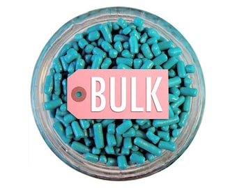 Teal Jimmies BULK (1lb) - bright teal sprinkles for decorating cupcakes, cakes, cakepops, cookies, and ice cream