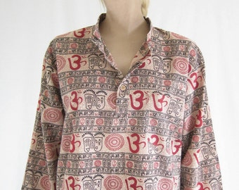 Vintage India Cotton Sheer Boho Blouse