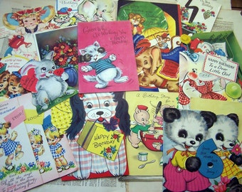 Vintage - Group of Greeting Cards - Wonderfully Illustrated