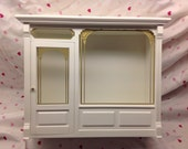 White Wood Showcase Display Curio for your miniatures