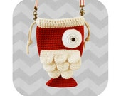 Funny little fish crossbody bag - PDF crochet pattern - INSTANT DOWNLOAD