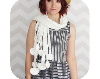INSTANT DOWNLOAD - Mori girl enoki mushroom scarf - PDF crochet pattern
