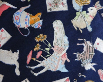 Alice in Wonderland - Cotton Fabric - Half yard