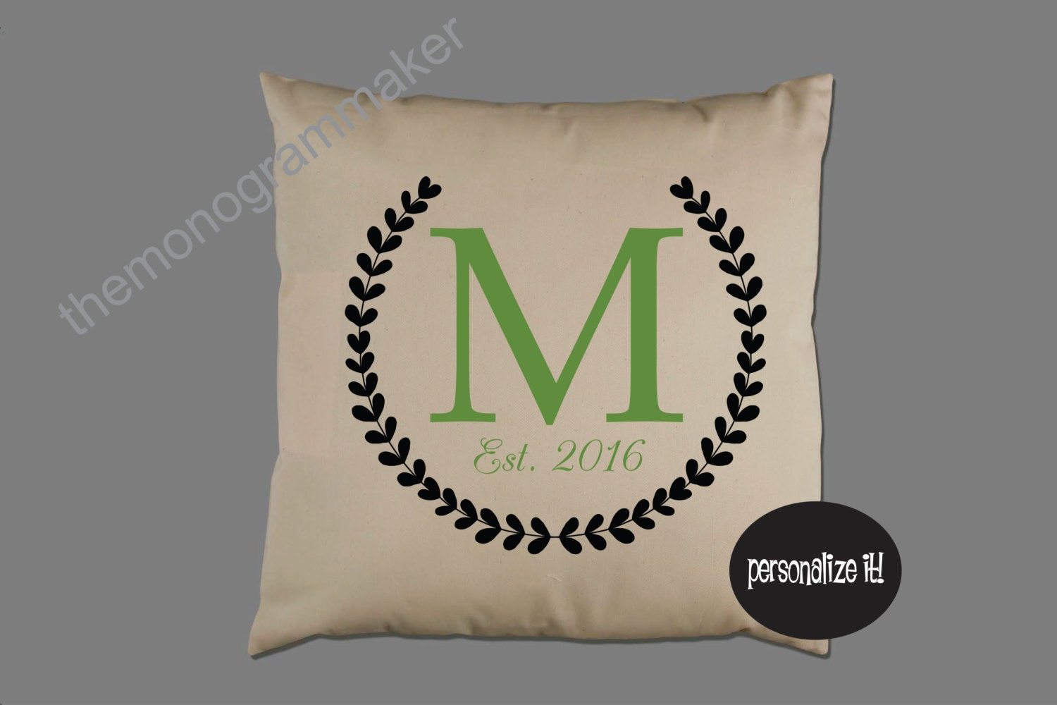 Personalized Wedding Gift Pillow Cover Pillow Case