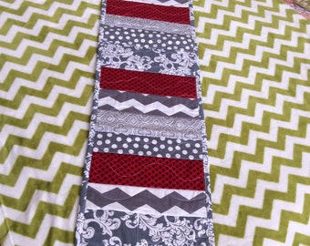 Table runner-gray table runners-peiced table runners-quilted table runners-chevron table runner