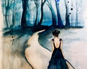 Coupon Code BLACKFRIDAY16 for 60% discount Don't Be Afraid Print of Watercolor Painting