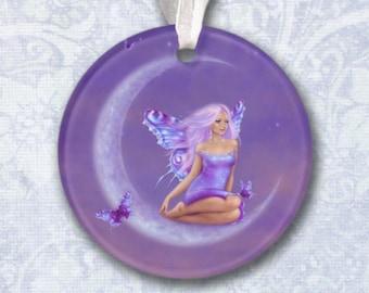 Lavender Moon Fairy Ornament