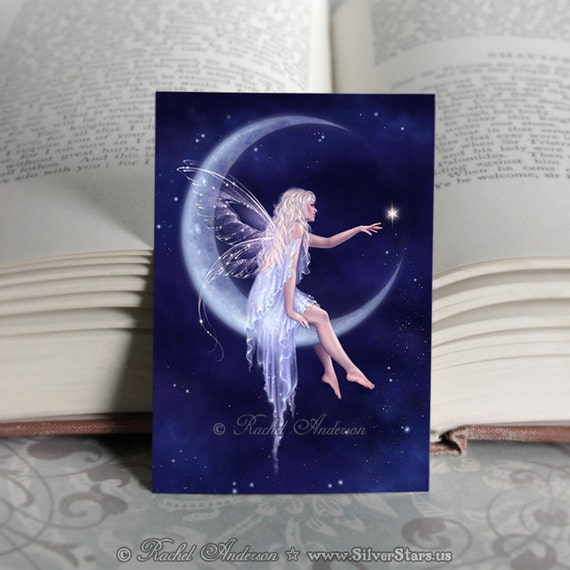ACEO Moon Fairy limited edition print