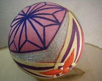 Hand made Temari ball (colorful)