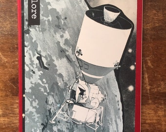 Vintage Space Blank Moleskine Journal