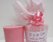 24 Baby Powder Votives -  Pink