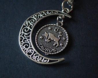 Astrology Taurus moon necklace