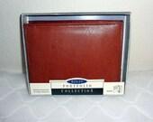 NOS Rolfs Genuine  saddle leather  mens bi fold wallet  coin purse  vintage  New in Box