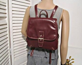 Backpack Burgundy Brown Color Non Leather Vintage Backpack