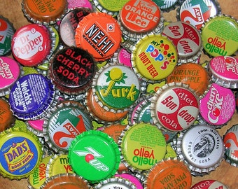 50 Vintage Soda Bottle Caps Bottlecaps No Dents Unused Vintage Bottlecaps DIY Jewelry