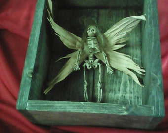 Rest in peace PRECIOUS FAIRY in old barn wood box.
