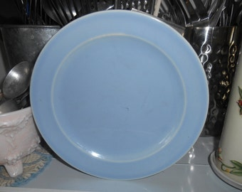 "Vintage T S & T Lu-Ray Pastels Light Blue 7.5"" Plate"