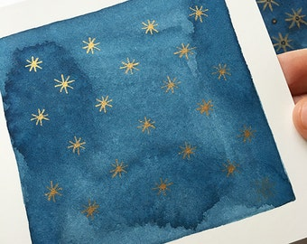 Stelle No. 1, original watercolor painting
