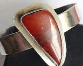Sonora Sunrise Hammered Silver Cuff Bracelet - Cuprite Cuff Bracelet - Bohemian Cuff - Festival Jewelry