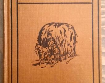 Antique Book Productive Farming by Kary C. Davis 5th Printing 1922, Decorative Binding Book, Farmhouse Decor