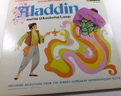 Vintage LP Album Disney Illustrated  Book and Record Aladdin and his Wonderful Lamp