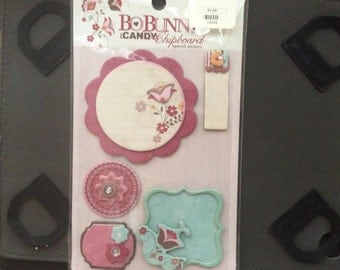 BoBunny Sophie ICandy chipboard stickers