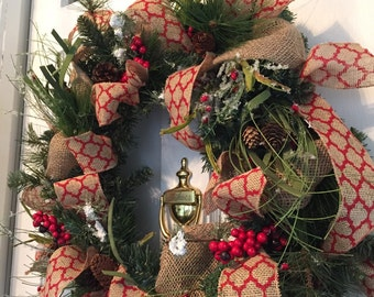 Naturalistic Christmas Wreath