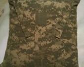 U S Army ACU Uniform Pillow Cover