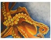 Octopus Watercolor Art Pr...