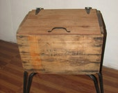 Vintage reclaimed shipping boxes end table