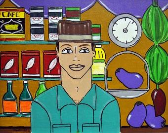 "Colmadito (Corner Store)- Original Latin Pop Painting, 18x24"""