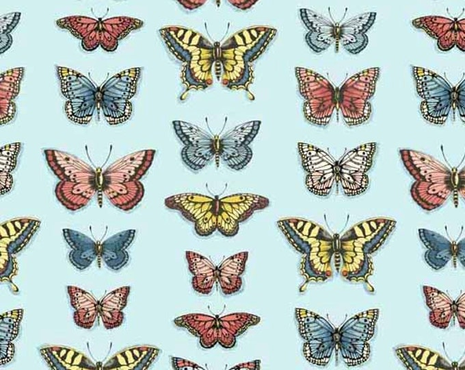 Vintage Journal - Butterflies by Makower UK for Andover Fabrics - Quilting Cotton Fabric