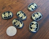 Hand molded Batman inspired buttons - set of 6
