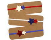 Patriotic Glitter Star Headband   Red, White and Blue Star Headband   Glitter Star Headband   4th of July Headband   Glitter Stars  