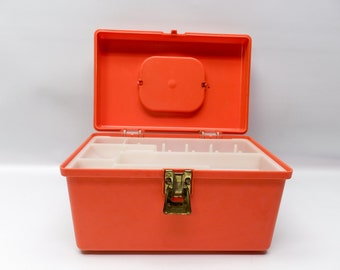 Little pumpkin orange sewing box