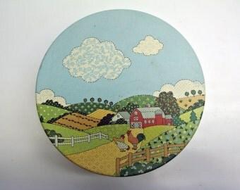 Farm themed storage tin