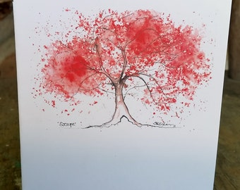 Escape Tree, Any Occasion Notecard, blank inside