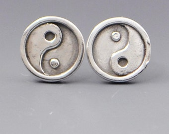 Balance- YinYang Stud Post Wire Earrings