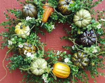 Fall Wreath....Pumpkin Wreath....Front Door Wreath....Harvest Wreath
