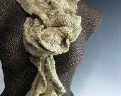 Knitted Ruffle Scarf: Jenny