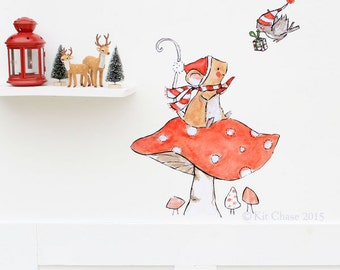 Merry and Bright - Wall Decal