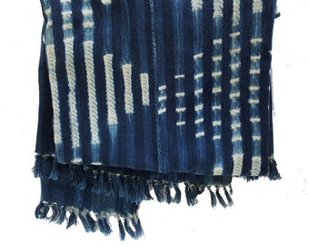Vintage African Indigo Mudcloth Textile Throw   Steve Miller