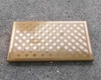 1950s Vintage Wadsworth Cigarette Case Gold Tone