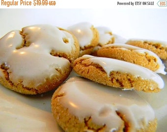 BIRTHDAY SALE The Ultimate Iced Molasses Cookies - The Little Ones - TWO Dozen (24 cookies)