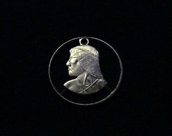 Panama - cut coin pendant - w/ Urraca - 2006