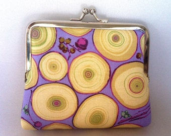 Tree Rings mini Clutch coin Purse