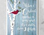 Cardinal Birch Tree Quote Print