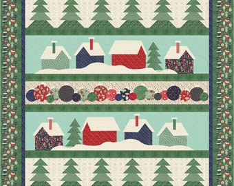 PATTERN DOWN the LANE Christmas Houses Quilt