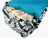 Large Coupon Organizer, Coupon Bag, Coupon Purse, Coupon Holder Damask Fabric